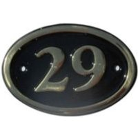 Black Brass House Plate Number 29
