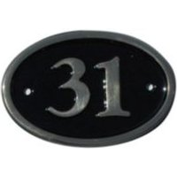 Black Brass House Plate Number 31