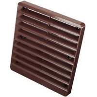 Manrose Brown Square Gas appliances Fixed louvre vent (H)150mm (W)150mm