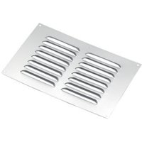 Manrose Chrome effect Rectangular Applications requiring low extraction rates Fixed louvre vent (H)152mm (W)229mm