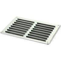 Manrose Chrome effect Rectangular Gas appliances Fixed louvre vent (H)152mm (W)229mm