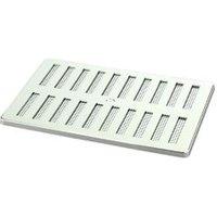 Manrose Chrome effect Rectangular Adjustable vent & Fly screen  (H)152mm (W)229mm