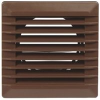 Manrose Brown Square Applications requiring low extraction rates Fixed louvre vent (H)110mm (W)110mm