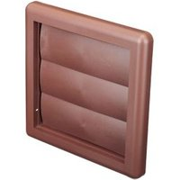 Manrose Brown Square Air vent & gravity flap  (H)125mm (W)125mm
