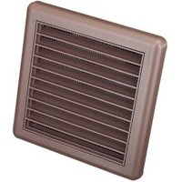 Manrose Brown Square Applications requiring low extraction rates Fixed louvre vent (H)140mm (W)140mm