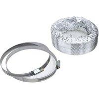 Manrose Aluminium Flexible Ducting hose (L)1m (Dia)125mm