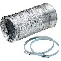 Manrose Aluminium Flexible Ducting hose (L)2.5m (Dia)125mm