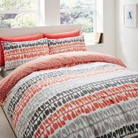 Lotta Jansdotter Follie Patterned Coral Single Bed Set
