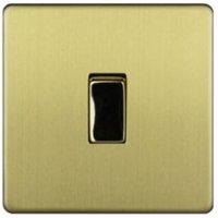 Varilight 10A 3-Way Single Brushed Brass Effect Switch