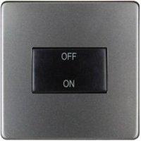 Varilight 10A 1 way Matt grey Single Fan isolator Switch