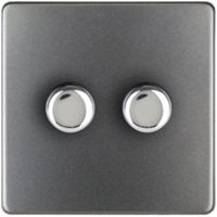 Varilight 2-Way Single Grey Slate Effect Switch