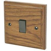 Varilight 10A 2-Way Single Medium oak Light switch