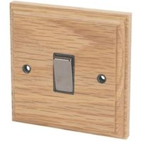 Varilight 10A 2-Way Single Oak Light switch