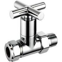 Terrier Decor Chrome-plated Straight Lockshield valve