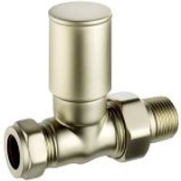 Terrier Decor Nickel-plated Straight Lockshield valve