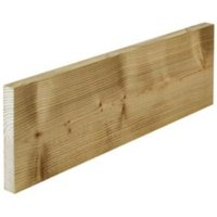 Treated sawn timber (T)22mm (W)125mm (L)2400mm Pack of 4