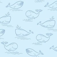 Holden décor Blue Animals Wallpaper