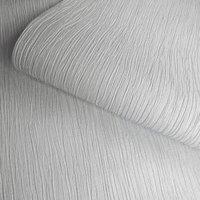 Opus Loretta Grey Texture Metallic effect Embossed Wallpaper