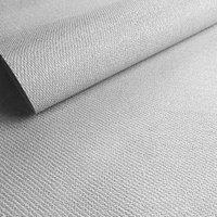 Opus Weave Texture Silver effect Embossed Wallpaper