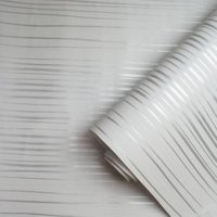 Holden décor Riley Grey & silver Stripe Metallic Wallpaper