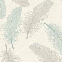 Holden K2 Cream & teal Maisey Textured Wallpaper