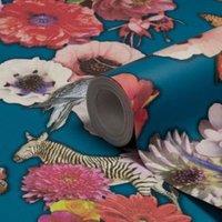 Holden Décor Madagascar Teal Floral Wallpaper
