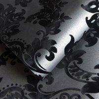 Holden Black Glitter Wallpaper