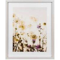 Meadow haze Grey Framed art (W)430mm (H)530mm