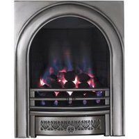 Focal Point Arch Satin Chrome Manual Control Inset Gas Fire