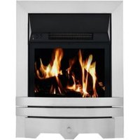 Focal Point Lulworth Brushed Stainless Steel LCD Remote Control Electric Fire