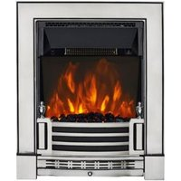 Focal Point Finsbury Satin Chrome LED Electric Fire