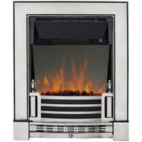 Focal Point Finsbury Satin Chrome LED Reflections Electric Fire