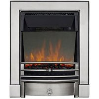 Focal Point Soho Satin Chrome LED Reflections Electric Fire