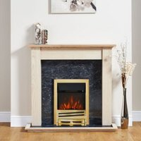 Focal Point Horizon Brass Electric Fire Suite