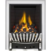 Focal Point Elegance Full Depth Chrome & Black Remote Control Inset Gas Fire