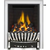 Focal Point Elegance Full Depth Chrome & Black Slide Control Inset Gas Fire