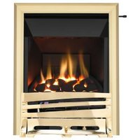 Focal Point Horizon High Efficiency Brass Slide Control Inset Gas Fire
