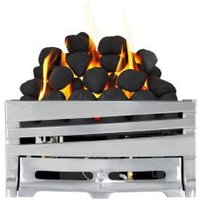 Focal Point Horizon Chrome Manual Control Inset Gas fire tray