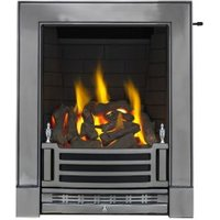 Focal Point Finsbury Satin Chrome Slide Control Inset Gas Fire