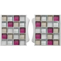 Sassi Pink Glass effect Glass Mosaic tile (L)87mm (W)79mm