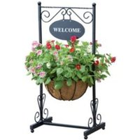 Traditional Georgian Black Welcome Planter (H)910mm