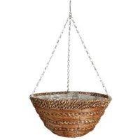 Gardman Sisal Rope & fern Hanging basket 355.6 mm