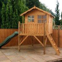 7X5 Poppy Wooden Tower Slide Playhouse