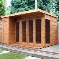 12x8 Combi Garden room Shiplap Summerhouse & store