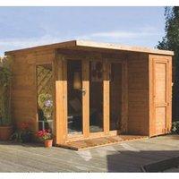10X8 Combi Garden Room Shiplap Timber Summerhouse & Store