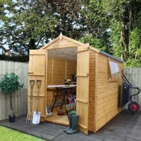 8X6 Apex Shiplap+ Wooden Shed with Assembly Service Base Included