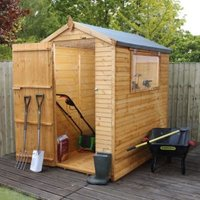 6X4 Apex Shiplap+ Wooden Shed with Assembly Service Base Included