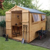 10X6 Apex Shiplap+ Wooden Shed with Assembly Service Base Included