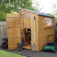 7X5 Apex Shiplap+ Wooden Shed with Assembly Service Base Included