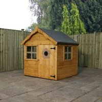 4X4 Wooden Playhouse with Base with Assembly Service